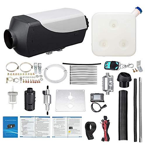 TOPQSC Standheizung Diesel Air Heater 5KW 12/24 V Parking Heater Mit Fernbedienung LCD 10L, Auto Diesel Luftheizung Air Fuel Heizung für Auto/Pickup/Big Truck/Van/Bus/RV