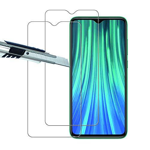 THILIVE [2 Unidades] Xiaomi Redmi Note 8 Pro Protector de Pantalla Vidrio Cristal Templado 9H Dureza,HD-Display,Anti-Huellas,Anti-Burbujas