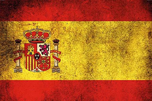FS land vlag Spanje nationale vlag blikken bord gewelfd Metal Sign 20 x 30 cm