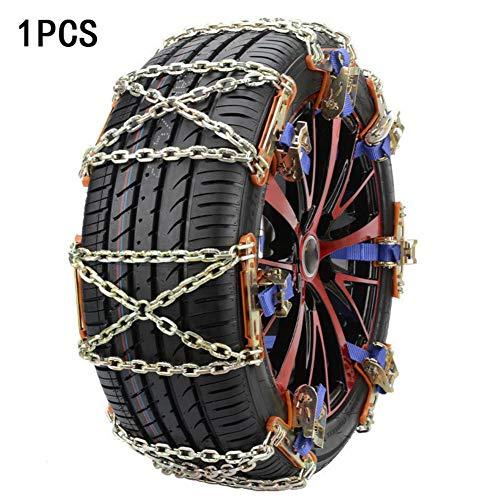 1PC Auto-Reifen-Anti-Rutsch-Schneekette - Schlamm- und Sandreifen-Traktionsvorrichtung für Autos und kleine SUVs Legierungs-Reifenketten Schneekette Schneereifen-Schneetraktionsmatten-Alternative