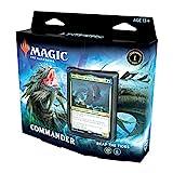 Magic: The Gathering Legends Reap The Tides (100 cartas listas para jugar, 1 comandante de lámina, azul-verde)