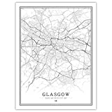 Lonfenner Leinwand Bild,Glasgow Grossbritannien Abstrakte
