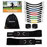 XCELER8 Bands Speed and Agility Training Resistance Bands for All Sports | Includes Ankle Straps | Training Videos | Fast Sprinting, Explosive, Agile, Strength, Endurance