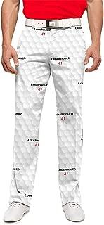 Loudmouth Golf-StretchTech Poly-John Daly Fun Big Golf Ball Men's Pants-Tour Slit at Bottom
