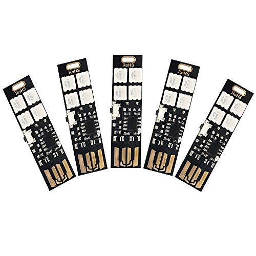 Yitee Mini USB Lights 7-Color Changing Night Light 5050 RGB 4-LEDs Switch Control, USB LED TV Backlight Kit,Table Lamp,Desk Decor Lighting,Party Mood Lights,Laptop Keyboard Light