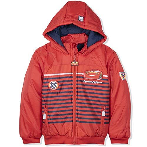 Coole-Fun-T-Shirts Cars 3 Lightning MC Queen jongens winterjas Parka Blouson gestreepte jas gevoerd rood capuchon maat 98 104 116 128 cm 3 4 6 8 jaar