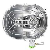 BRS キャンプ ヒーター 赤外線 屋外 暖房用ストーブ ダブル バーナー ストーブ ヒーター ガスヒーター