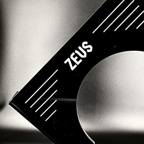 ZEUS Thron - Sgabello per WC con design elegante e stabile, ampia superficie - Più sano e più veloce - migliore - Sgabello e intestino (Premium Black)