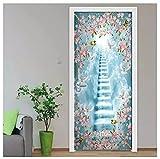 The Sacred Road Surrounded By Flowers Home Decoration Decals Living Room Bedroom Doors Decorative Door Stickers Waterproof