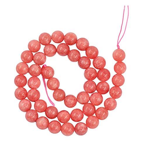 oshhni Rodocrosita Argentina Natural Perlas Redondas Sueltas Fabricación de Joyas de Jade - Rosado, 8 mm