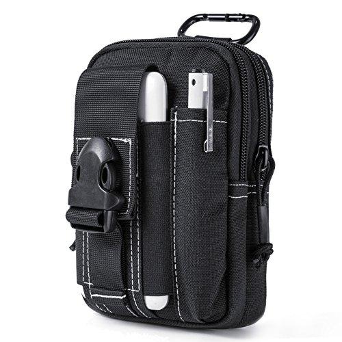 OneTigris kompakt MOLLE EDC Tasche Tac Pouch praktische Gerät Beutel (Schwarz)