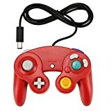 New Generic Red Classic Wired Gamepad Joypad Controller For Nintendo Wii Gamecube Remote