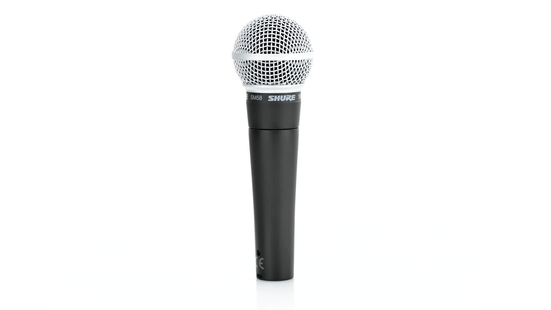 Shure Sm58 Microphone De Scène Direct Avec Fil Noir Microphones Microphone De Scène Direct 54 5 Db 50 15000 Hz Avec Fil 298 G 51 X 162 Mm Amazon Fr Instruments De Musique