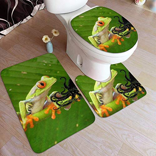 Lawenp Juego de alfombras de baño de Moda de Rana arbórea