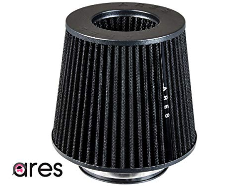 """Ares black 2.75"""" Universal Dry Air Filter Cone Dry Filter Replacement"""
