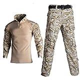 Ropa Militar Al Aire Libre Camisas Unisex CP Pantalones Traje Uniforme Militar Táctico De Fuerza Especial Ropa De Trabajo Airsoft,Grey-Large