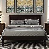 Wood Platform Bed Frame (Espresso, Full)
