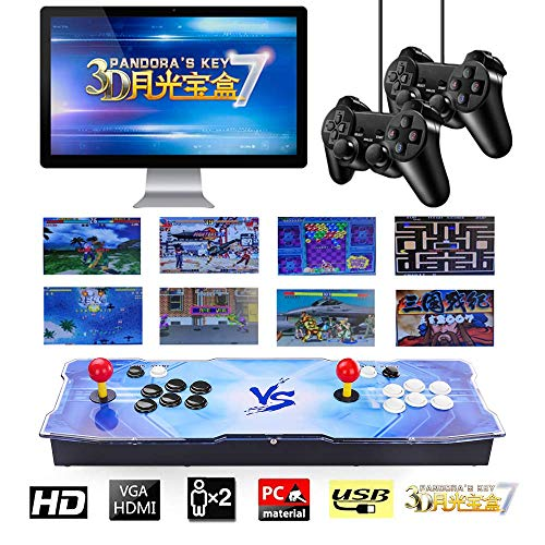 TAPDRA 2413 Classic Arcade Game Console Machine, 4 Players Pandoras Key 7 with 1280x720 Full HD Video Game Console with Joystick Support HDMI VGA Output