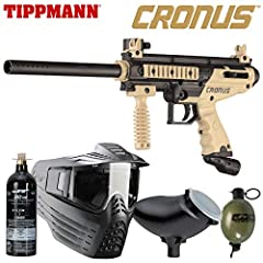 TIPPMANN Cronus 20oz jt paintball Co2 Tank Vforce sentry paintball mask TIPPMANN 200Rd loader Jt paintball 8oz paint grenade