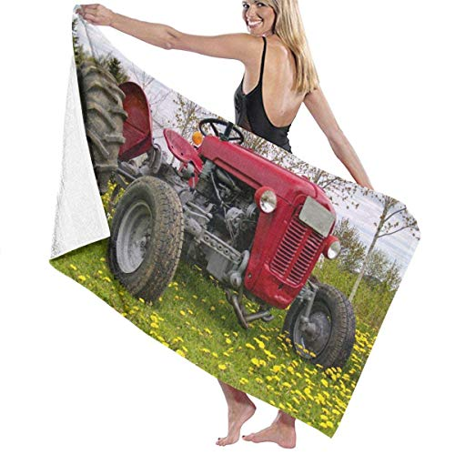 WH-CLA Bath Towels Tractor Super Water Pool Quick Drying Gym Yoga Travel Beach Towel Camping Lightweight 80X130Cm Outdoor Microfiber Absorbent Printed Christmas CozyT