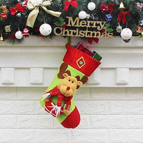 langchao Calcetines de Navidad Bolsa Decoraciones de Navidad Calcetines de Navidad Colgante de Papá Noel