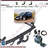 ATTELAGE avec faisceau 7 broches | Opel Corsa C de 2000 à 2006 Hayon / crochet «col de cygne» démontable avec outils