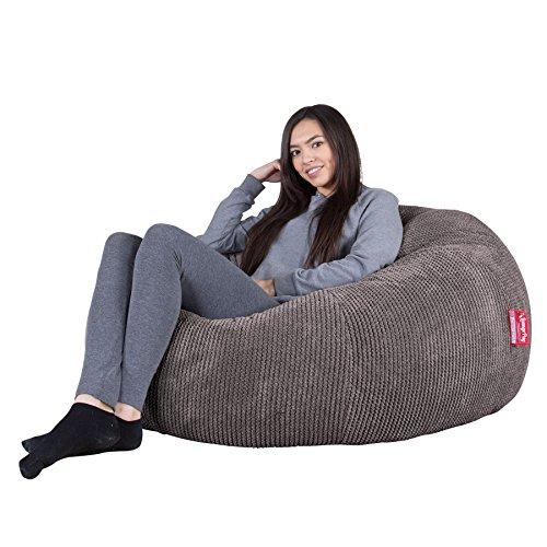 Lounge Pug®, Puff GiganteSofá Clásica, Pompón - Carbón Gris