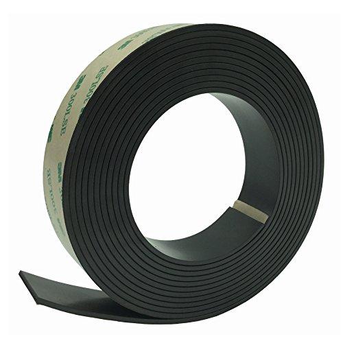 Cinta magnética anisotrópica fuerte de la tira del imán,Bingolar Rollo de cinta de imán de goma anisotrópica fuerte con Adhesivo adhesivo Prime,Ideal 1 Inch x 11 Feet Rollo magnético para proyectos
