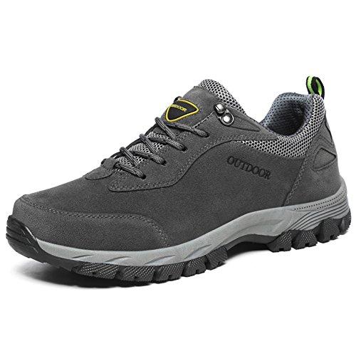 NEOKER Scarpe da Trekking Uomo Donna Arrampicata Sportive All'aperto Escursionismo Sneakers Grigio 40