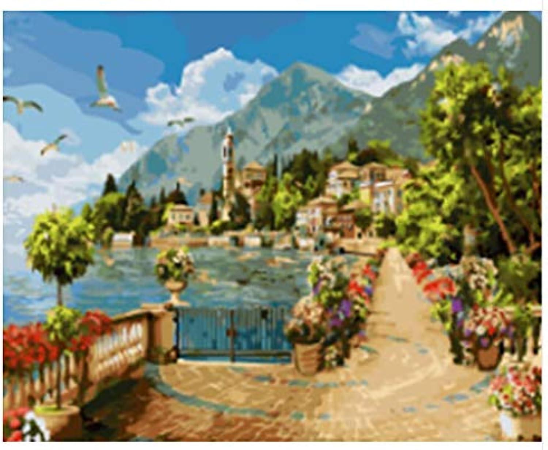 Superlucky Seascape Bild DIY Ölgemälde durch durch durch Zahlen Malerei & Kalligraphie Home Decor Wall Art Mit Rahmen 40x50cm B07J2GYZM2 | Elegant und feierlich  253b52