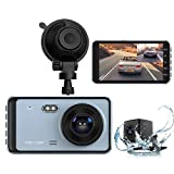 Dual Dash Cam, DashCam Front and Rear View Camera 1296P FHD 4 inch IPS Touch...