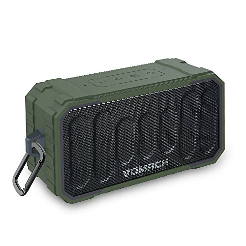 Vomach Bluetooth Speakers IPX6 Water-Resistant, Bluetooth 4.2 10Watts Portable Wireless Speaker with deep Bass Stereo Sound for Outdoor, Party, Travel and More