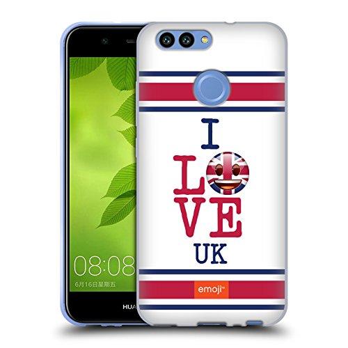 Head Case Designs Oficial Emoji Reino Unido Me Encanta Mi País Carcasa de Gel de Silicona Compatible con Huawei Nova 2