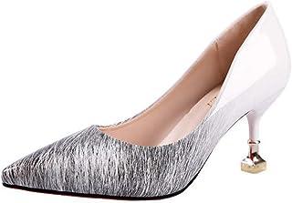 ebd170a4956274 Qimaoo Femme Été Sandales à Talon Carré, Chaussures à Haut Talon de 6cm  pour Mariage