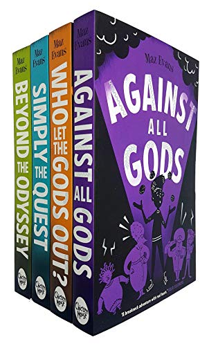 Who Let the Gods Out Series 4 Books Collection Set By Maz Evans (Who Let the Gods Out, Simply the Quest, Beyond the Odyssey, Against All Gods)