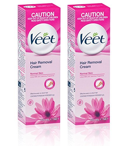 Veet Hair Removal Cream for Normal Skin with Lotus Milk 100ml (2) by Veet