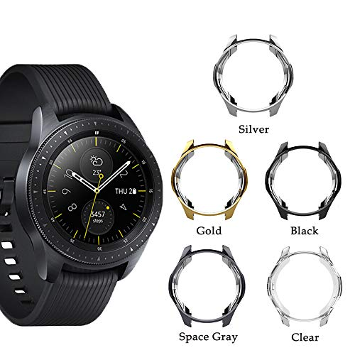 Cuteey Case for Samsung Gear S3 Frontier SM-R760,TPU Scractch-Resist Shock-Proof All-Around Protective Bumper Shell Protective Galaxy Watch SM-R800 46mm Smartwatch Accessories (Grey, 46mm)