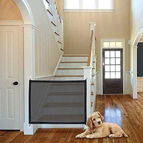futureyun Magic Gate for Dogs, Pet Safety Gate, Portable Folding Safe Enclosure Easy Install Anywhere with Baby Safety Fence, Pet Safety Enclosure -100x75cm