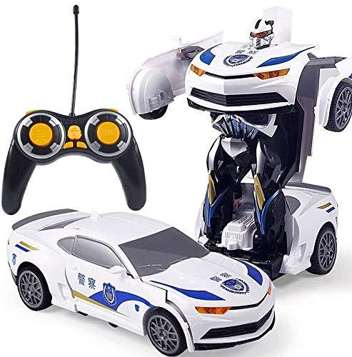 01:12 gran tamaño coche teledirigido un botón de Gesto inteligente de detección de niños Deformación Robot modelo del vehículo de carga Deportes Niños del muchacho del hombre del coche policía Racing