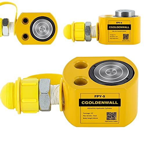 CGOLDENWALL 小型油圧ジャッキ ポンプ付き 最大耐荷重5t、10t、20t 狭いスペースの持ち上げ作業に最適 (20トン)