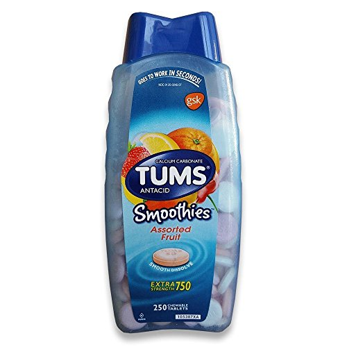 TUMS Extra Strength Smoothies, 250 Chewable Tablets