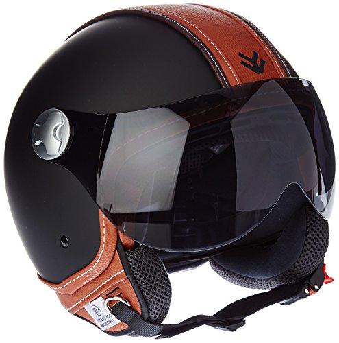ARMOR Helmets AV-84 Jet-Helm Motorrad, ECE Visier Schnellverschluss Tasche, L (59-60cm), Mehrfarbig/Vintage Deluxe