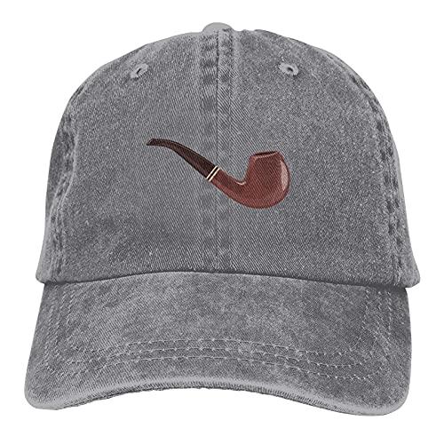 huatongxin Sherlock Holmes 'Vintage Pipa de Tabaco de Madera Ajustable Atlético Casual Gorra Ajustada de béisbol Sombrero de papá Gris