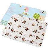 AODOOR - 2 tappetini per fasciatoio per bambini, impermeabile, per cambiare le urine del bambino, tappetino riutilizzabile, multifunzione, lavabile, per il cambio del pannolino, con unisex