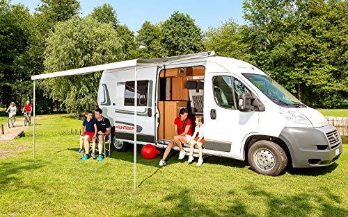 Fiamma Dachmarkise F80S Schwarz 370 cm grau Markise Camping Sonnenschutz Wohnmobil Sonnendach Reise