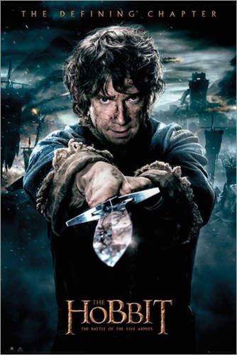 Poster Der Hobbit - Schlacht der fünf Heere - Bilbo - preiswertes Plakat, XXL Wandposter