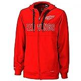 Reebok CCM NHL DETROIT RED WINGS Faceoff Full Zip Hoody, Größe:L
