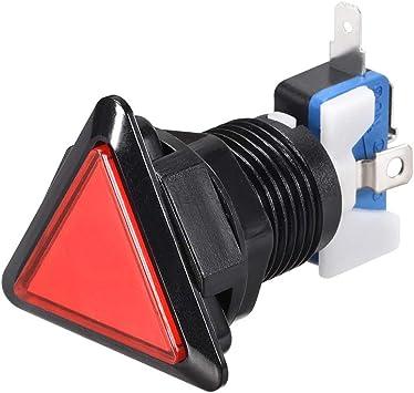 Game Push Button 39x39x39 Triangle 12V LED Illuminated Push Button White 5pcs