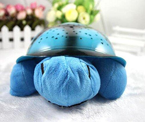 JIANGJIE Kreative Musik Schildkröte Projektion Sternenhimmel Schildkröte Schlafen Lampe Nachtlicht Musik Schildkröte Beleuchtung Urlaub Geschenke Für Kinder,Blue