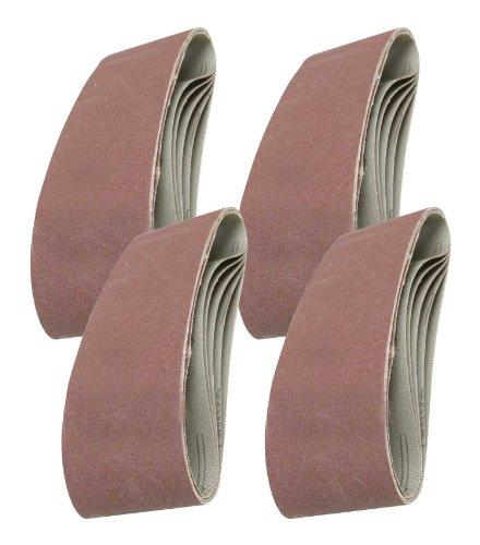 20 Mixed Grade Sanding Belts for to fit the Redline 77099 Belt Sander 75mm x 533mm